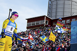 March 10, 2019 - –Stersund, Sweden - 190310 Mona Brorsson of Sweden looks dejected after during the Women's 10 km Pursuit during the IBU World Championships Biathlon on March 10, 2019 in Östersund..Photo: Petter Arvidson / BILDBYRÃ…N / kod PA / 92254 (Credit Image: © Petter Arvidson/Bildbyran via ZUMA Press)