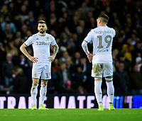 Leeds United's Stuart Dallas, left, and Leeds United's Pablo Hernandez after Sheffield Wednesday's Jacob Murphy scored the opening goal <br /> <br /> Photographer Chris Vaughan/CameraSport<br /> <br /> The EFL Sky Bet Championship - Leeds United v Sheffield Wednesday - Saturday 11th January 2020 - Elland Road - Leeds<br /> <br /> World Copyright © 2020 CameraSport. All rights reserved. 43 Linden Ave. Countesthorpe. Leicester. England. LE8 5PG - Tel: +44 (0) 116 277 4147 - admin@camerasport.com - www.camerasport.com