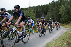 Trixi Worrack in the peloton across the first gravel sector at the Crescent Vargarda - a 152 km road race, starting and finishing in Vargarda on August 13, 2017, in Vastra Gotaland, Sweden. (Photo by Sean Robinson/Velofocus.com)
