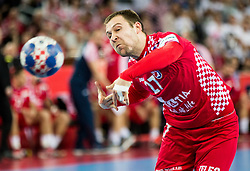 Ivan Cupic of Croatia during handball match between National teams of Croatia and France on Day 7 in Main Round of Men's EHF EURO 2018, on January 24, 2018 in Arena Zagreb, Zagreb, Croatia.  Photo by Vid Ponikvar / Sportida
