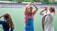 AMSTELVEEN - Teleurstelling bij Bonaventura. Willem de Zwijger College uit Bussum, wint Meisjes jong van Bonaventura Leiden . NK Schoolhockey 2019 , COPYRIGHT  KOEN SUYK