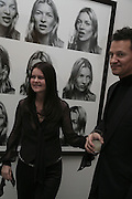 CORINNE DAY AND HER HUSBAND MARK SZASZY, Face of Fashion private view. National Portrait Gallery. London. 12 February 2007.  -DO NOT ARCHIVE-© Copyright Photograph by Dafydd Jones. 248 Clapham Rd. London SW9 0PZ. Tel 0207 820 0771. www.dafjones.com.