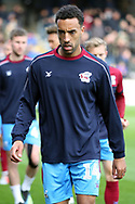 Scunthorpe United defender James Perch (14) prior to the EFL Sky Bet League 1 match between Scunthorpe United and Plymouth Argyle at Glanford Park, Scunthorpe, England on 27 October 2018. Pic Mick Atkins