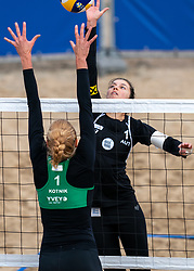 Nadine Strauss of Austria in action during CEV Continental Cup Final Day 1 - Women on June 23, 2021 in The Hague