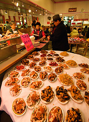 California, San Francisco: Exotic meats at Yee's Restaurant on Grant Avenue during the Chinese New Year celebration..Photo #: 29-casanf77809.Photo © Lee Foster 2008