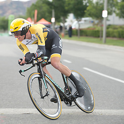 15-05-2015: Wielrennen: Amgen Tour of California: USA<br /> Jos van Emden onderweg naar een tweede plaats in de  tijdrit van de Tour of California