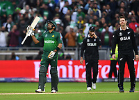 Cricket - 2019 ICC Cricket World Cup - Group Stage: New Zealand vs. Pakistan<br /> <br /> Pakistan's Babar Azam celebrates their 6 wicket victory over New Zealand, at Edgbaston<br /> <br /> COLORSPORT/ASHLEY WESTERN