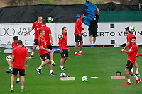 Atletico de Madrid's players during the first training session 2017/2018 season in presence of the Physical trainer Oscar Ezequiel El Profe Ortega. July 6, 2017. (ALTERPHOTOS/Acero)