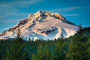 Mount Hood, called Wy'east by the Multnomah tribe, is a stratovolcano in the Cascade Volcanic Arc of northern Oregon. It was formed by a subduction zone and rests in the Pacific Northwest region of the United States. It is located about 50 miles (80 km) east-southeast of Portland, on the border between Clackamas and Hood River counties. In addition to being Oregon's highest mountain, it is one of the loftiest mountains in the nation based on its prominence.