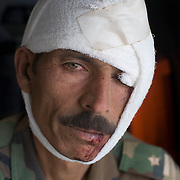 An Afghan soldier injured in an IED (improvised explosive device) blast while clearing insrugents from the Taliban stronghold of Zhari District in Kandahar, Afghanistan is seen on a US Army medevac helicopter on it's way to Kandahar Airfield. The medevac helicopter is with the 101st Airborne Combat Aviation Brigade under the call sign Shadow Dustoff..(Credit Image: © Louie Palu/ZUMA Press/The Alexia Foundation)....