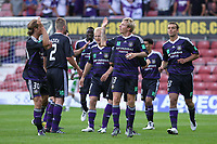 Football - UEFA Champions League 3rd Qualifying Round - The New Saint's vs. Anderlecht<br /> Anderlecht's Jonathan Legear celebrates scoring his sides 2nd goal of the night at the Racecourse Ground, Wrexham