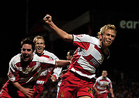Photo: Jed Wee.<br /> Doncaster Rovers v Arsenal. Carling Cup. 21/12/2005.<br /> <br /> Doncaster's Paul Green celebrates his extra-time goal.