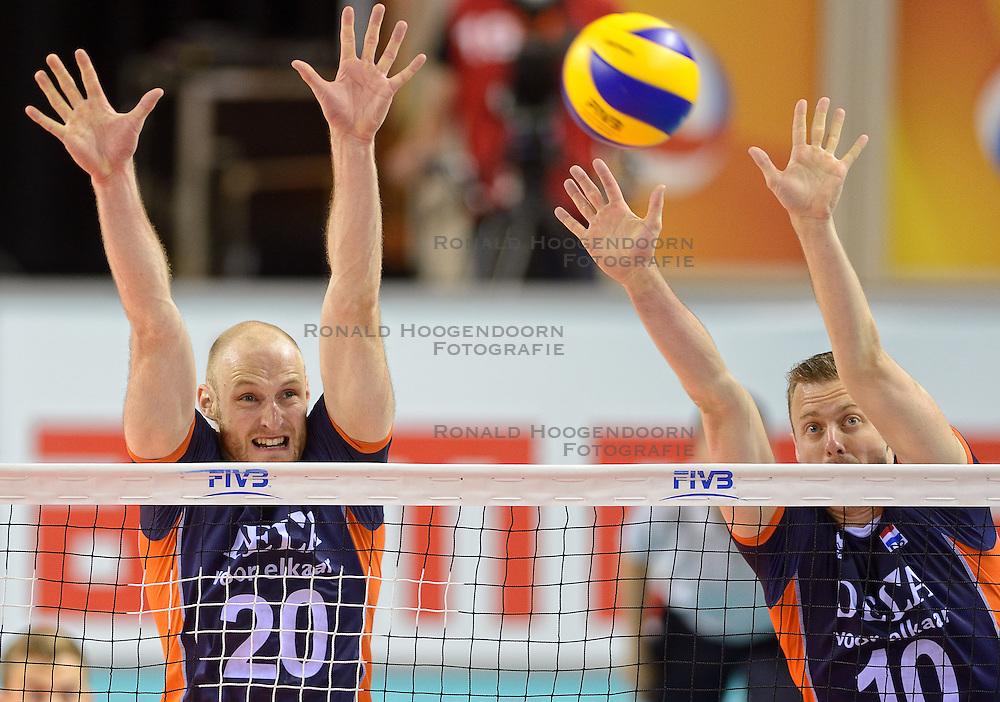 20150613 NED: World League Nederland - Finland, Almere<br /> Jasper Diefenbach #20, Jeroen Rauwerdink #10