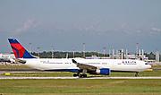 N830NW Delta Air Lines Airbus A330-302 at Malpensa (MXP / LIMC), Milan, Italy