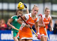 DEN BOSCH -  Lieke van Wijk tijdens de wedstrijd tussen de vrouwen van Jong Oranje  en Jong Wit-Rusland (15-0), tijdens het Europees Kampioenschap Hockey -21. ANP KOEN SUYK