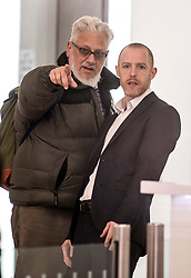 DATE CORRECTION TO 20/03/2018 © Licensed to London News Pictures. 20/03/2018. London, UK. Momentum founder Jon Lansman (left) arrives at Labour Party headquarters in London to attend a National Executive Committee meeting, where a new general secretary of the Labour Party is expected to be appointed. Photo credit: Ben Cawthra/LNP