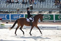 Rebecca Hart, (USA), Schroeters Romani - Freestyle Grade II Para Dressage - Alltech FEI World Equestrian Games™ 2014 - Normandy, France.<br /> © Hippo Foto Team - Leanjo de Koster<br /> 25/06/14