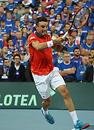 Roberto Bautista Agut (Spain) during the 2018 Davis Cup, semi final tennis match between France and Spain on September 14, 2018 at Pierre Mauroy stadium in Lille, France - Photo Laurent Lairys / ProSportsImages / DPPI