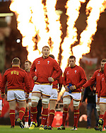 Bradley Davies of Wales looks on ahead of k/o. RBS Six Nations championship 2016, Wales v Italy at the Principality Stadium in Cardiff, South Wales on Saturday 19th March 2016. pic by  Andrew Orchard, Andrew Orchard sports photography.