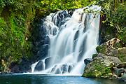 The upper Cascada de Texolo waterfall near Xico, Veracruz, Mexico. The remote jungle area was used in filming the movie Romancing the Stone.