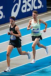 Job IJtsma, Tim Verbaandert in action on the 3000 meter during AA Drink Dutch Athletics Championship Indoor on 21 February 2021 in Apeldoorn.