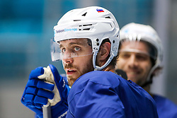 Anze Kopitar and David Rodman at ice hockey practice one day before at IIHF World Championship DIV. I Group A Kazakhstan 2019, on April 28, 2019 in Barys Arena, Nur-Sultan, Kazakhstan. Photo by Matic Klansek Velej / Sportida