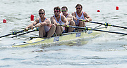 Poznan. Poland. GBR M4-. Bow: Alan SINCLAIR, Nathaniel REILLY-O'DONNELL, Tom RANSLEY and Scott DURANT, FISA 2015 European Rowing Championships. Venue Lake Malta. 29.05.2015. [Mandatory Credit: Peter Spurrier/Intersport-images.com] .   Empacher.