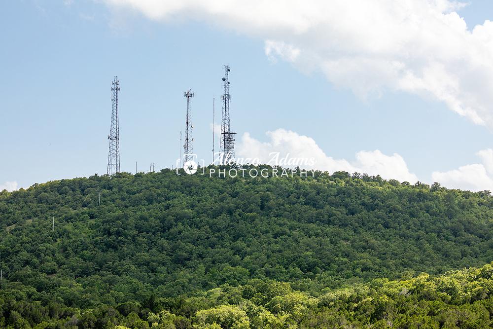 Communication Towers near Turner Falls Oklahoma on Wednesday, July 8, 2020. Photo copyright © 2020 Alonzo Adams.