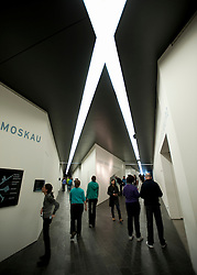 Interior of  Jewish Museum or Judisches Museum designed by Daniel Libeskind in Kreuzberg Germany