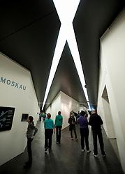 Interior of  Jewish Museum or Judisches Museum designed by Daniel Libeskind in Kreuzberg Germany