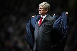 21/12/2011 - Barclays Premier League - Aston Villa vs. Arsenal - Arsenal manager Arsene Wenger opens his coat - Photo: Simon Stacpoole / Offside.