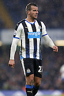 Steven Taylor of Newcastle United looks on. Barclays Premier league match, Chelsea v Newcastle Utd at Stamford Bridge in London on Saturday 13th February 2016.<br /> pic by John Patrick Fletcher, Andrew Orchard sports photography.