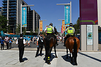 Football - 2021 EUFA European Championships - Finals - Group D - England vs Croatia, Wembley Stadium<br /> <br /> Police on duty outside the stadium.<br /> <br /> COLORSPORT/ASHLEY WESTERN