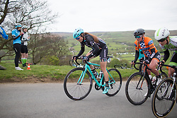Laura Massey (GBR) of Drops Cycling Team climbs up the Cote de Lofthouse during the Tour de Yorkshire - a 122.5 km road race, between Tadcaster and Harrogate on April 29, 2017, in Yorkshire, United Kingdom.