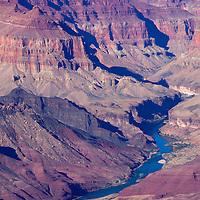 USA, Arizona, Grand Canyon. The Colorado River winding through the Grand Canyon.