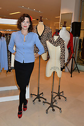 JASMINE GUINNESS at the launch of the 'Jasmine for Jaeger' fashion collection by Jasmine Guinness for fashion label Jaeger held at Fenwick's, Bond Street, London on 9th September 2015.