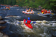 Lehigh River kayaks and rafts, Lehigh River Gorge State Park, Carbon and Luzerne Co. . Northeast PA