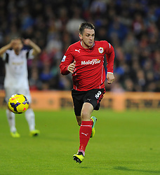 Cardiff City's Andrew Taylor - Photo mandatory by-line: Joe Meredith/JMP - Tel: Mobile: 07966 386802 03/11/2013 - SPORT - FOOTBALL - The Cardiff City Stadium - Cardiff - Cardiff City v Swansea City - Barclays Premier League