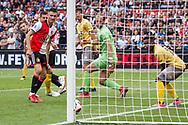 Feyenoord player Jan Arie van der Heijden (l) scores the 3-0 during the Dutch football Eredivisie match between Feyenoord and Excelsior at De Kuip Stadium in Rotterdam, on August 19th, 2018 - Photo Stanley Gontha / Pro Shots / ProSportsImages / DPPI