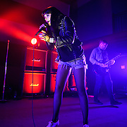 WASHINGTON, DC - March 27th, 2012 - Alexis Krauss and Jason Boyer of Sleigh Bells performs at the 9:30 Club in Washington, D.C. The band's second full length album, Reign of Terror, was released in February and debuted at number 12 on the Billboard Hot 200. (Photo by Kyle Gustafson/For The Washington Post)
