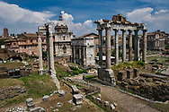 A view of the Roman Forum's main square.