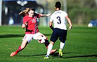 Fotball , 17. januar 2014 , privatkamp , damer , England - Norge<br /> England - Norway  , Woman<br /> Lene Mykjåland , Norge<br /> Demi Stokes , England