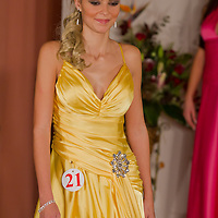 Gréta Varga participates the Miss Hungary beauty contest held in Budapest, Hungary on December 29, 2011. ATTILA VOLGYI