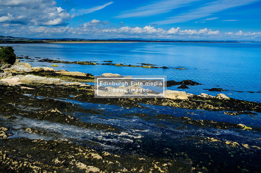 The seafront at St Andrews, Fife Scotland near the castle at low tide<br /> <br /> (c) Andrew Wilson   Edinburgh Elite media