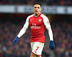 December 16, 2017 - London, England, United Kingdom - Arsenal's Alexis Sanchez..during Premier League match between Arsenal and Newcastle United at The Emirates , London 16 Dec  2017  (Credit Image: © Kieran Galvin/NurPhoto via ZUMA Press)