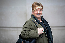 © Licensed to London News Pictures. 05/01/2020. London, UK. Shadow Foreign Secretary and Labour Party leadership contender Emily Thornberry leaves BBC Broadcasting House.  Photo credit: Rob Pinney/LNP