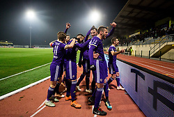 Players of Maribor celebrate after scoring second goal during football match between NK Domzale and NK Maribior in 18th Round of Prva liga Telekom Slovenije 2018/19, on November 11, 2018 in Sportni Park, Domzale, Slovenia. Photo by Vid Ponikvar / Sportida