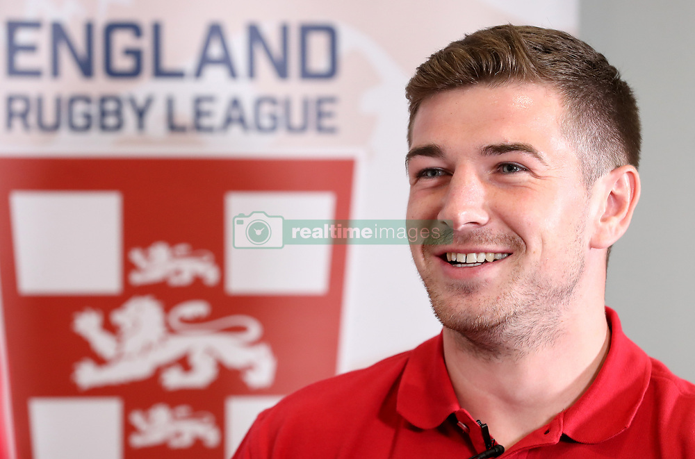 England's Mark Percival, during the media session at the Village Hotel, Bury. PRESS ASSOCIATION Photo. Picture date: Tuesday October 10, 2017. See PA story RUGBYL England. Photo credit should read: Martin Rickett/PA Wire. RESTRICTIONS: Editorial use only, No commercial use without prior permission.