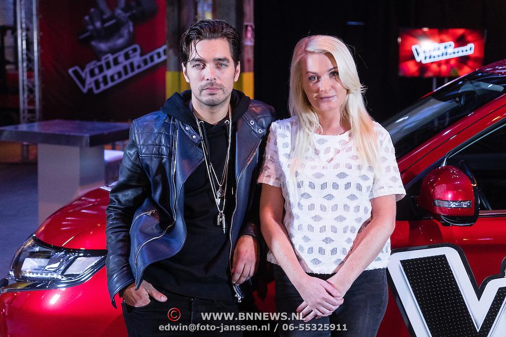 NLD/Halfweg/20161002 - Foto jury The voice of Holland 2016 / 2017, Waylon en Miss Montreal