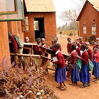 Africa, Tanzania, Karatu. Tloma Primary School Students in Karatu, Tanzania.